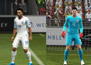 kits England Euro 2016 update Pes 2013