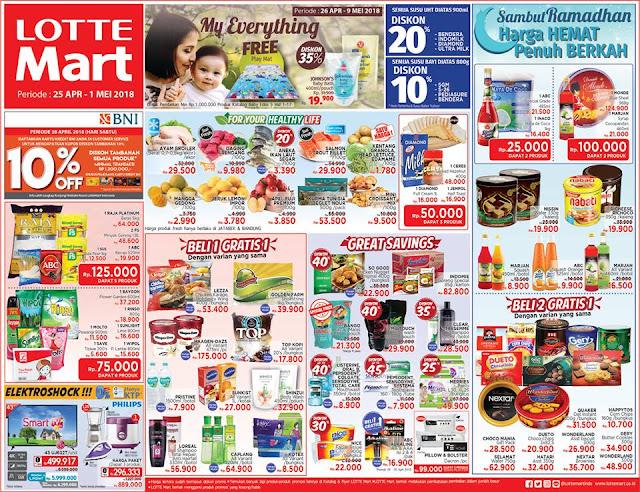 Harga Promo LOTTEMART Hypermarket Akhir Pekan 25 April - 01 Mei 2018