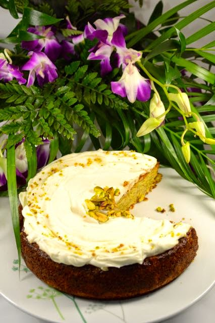 Lemon, Almond and Pistachio Cake