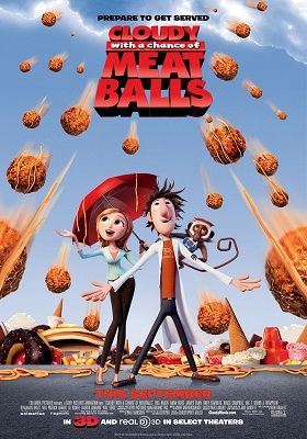 Cloudy With A Chance Of Meatballs 2009 300MB BluRay Hindi Dubbed