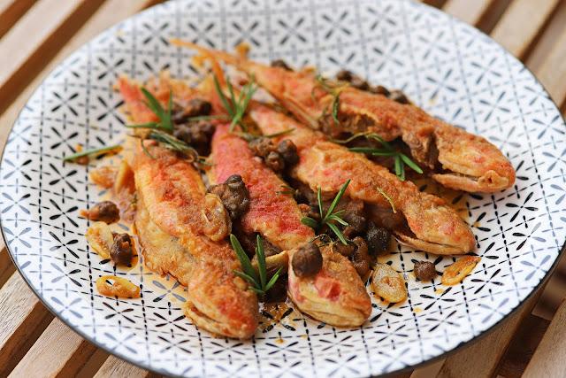 Συνταγή για Μπαρμπούνια Σαβόρο