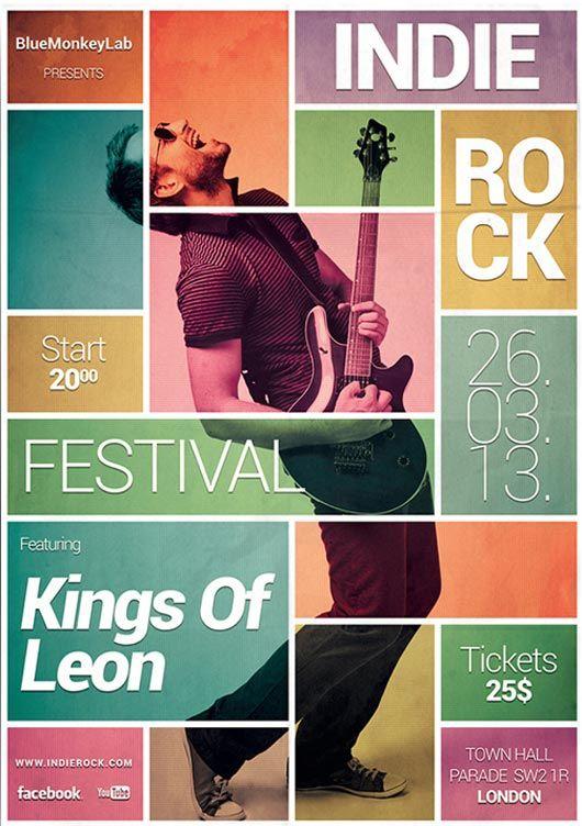 10 Contoh Desain Poster Festival Musik Kreatif  GRAFIS