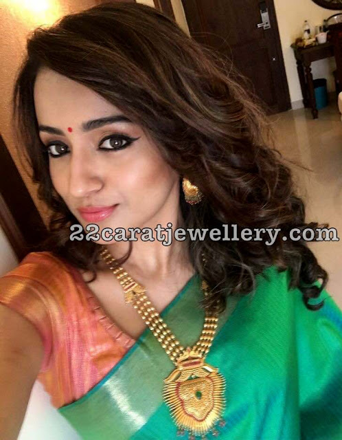 Trisha in Gold Balls Chain