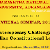 """NATIONAL SEMINAR, 2019 """"Contemporary Challenges in Indian Constitutional Law"""" Organized on: March 10th, 2019"""