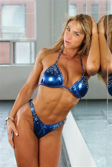 Fitness Model and Competitor - Ocean Bloom