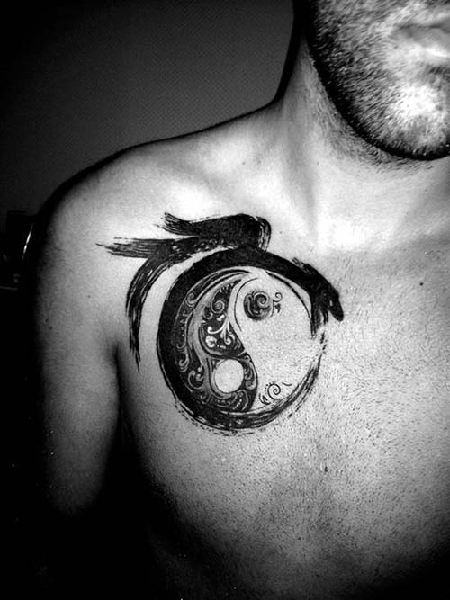circle dragon tattoos darier ejderha dövmeleri