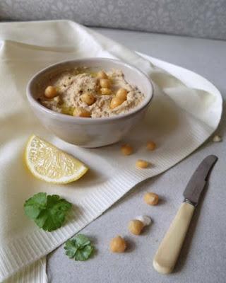 Creamy Hummus with Salmon