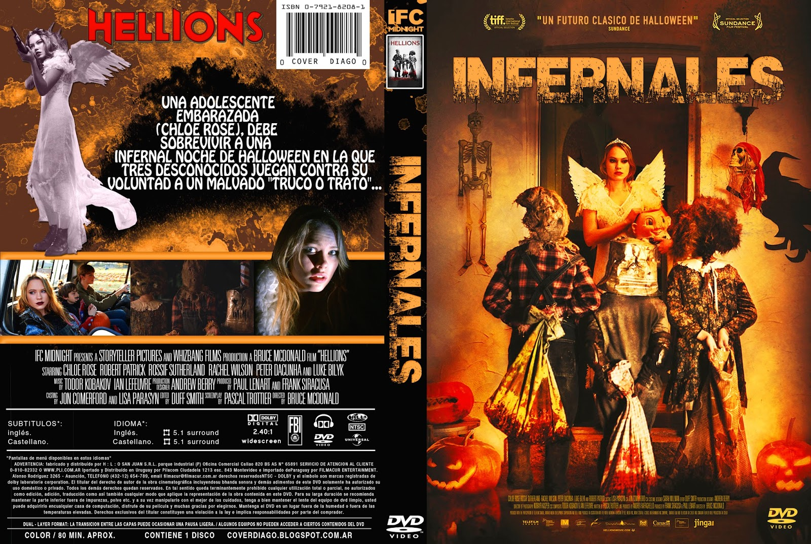 the horrors of halloween: hellions (2015) dvd and blu-ray covers