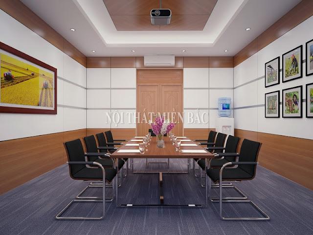 Bố trí, sắp xếp nội thất phòng họp phù hợp sẽ mang đến sự hài hòa, dễ chịu cho không khí các buổi họp của công ty