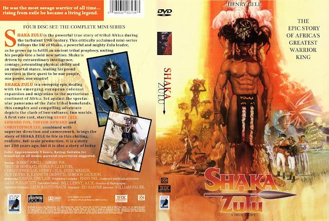 Capa DVD Shaka Zulu Minisérie Completa