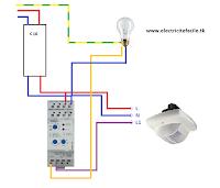 raccorder un d tecteur de pr sence avec un interrupteur cr pusculaire schema electrique. Black Bedroom Furniture Sets. Home Design Ideas