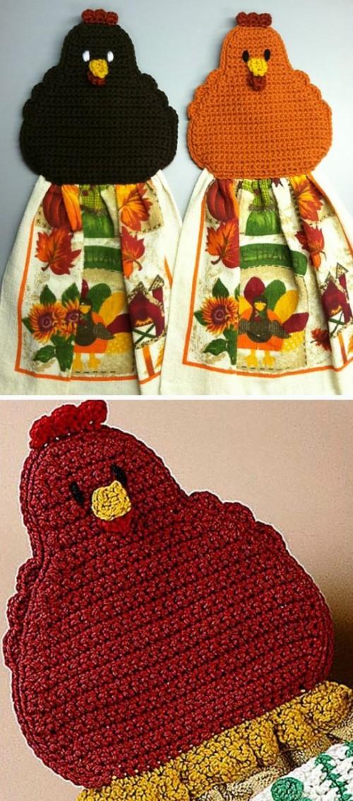 Chicken Towel Topper - Free Pattern