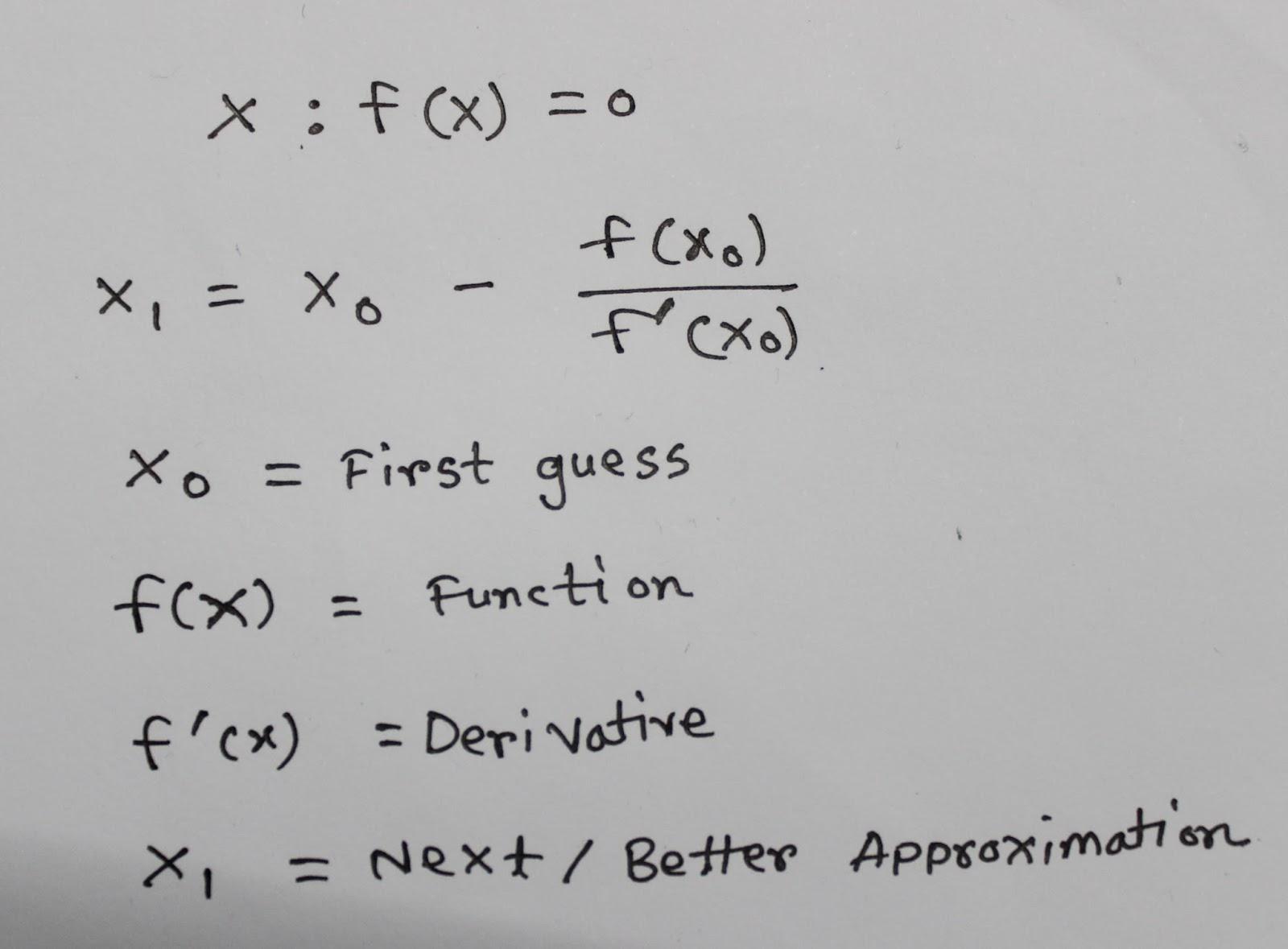 Newton-Raphson Method | Scavenger's Blog