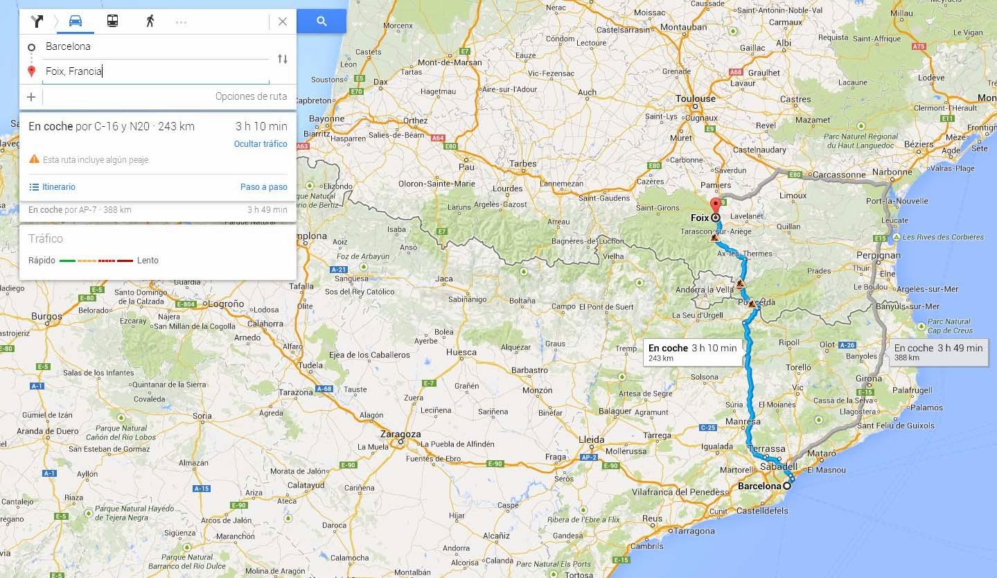 Rutas con Google Maps