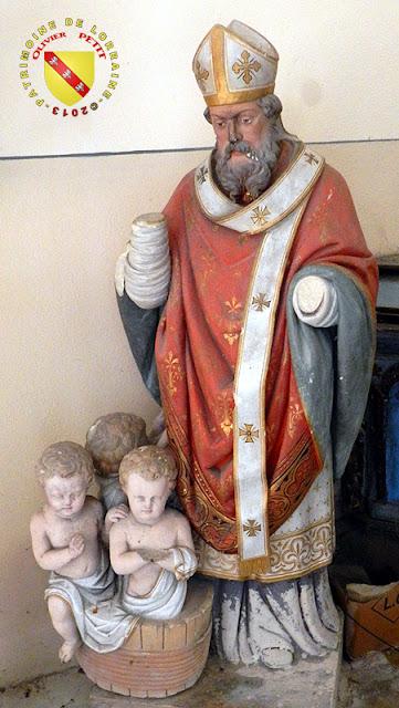 Saint-Nicolas (XIXe siècle) - Statue en plâtre polychrome - Église de Koeur-la-Grande (55)