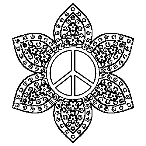 peace sign coloring pages - photo#35