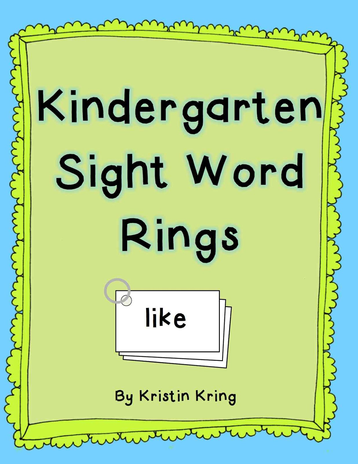 Mrs Kring S Kindergarten Sight Word Rings