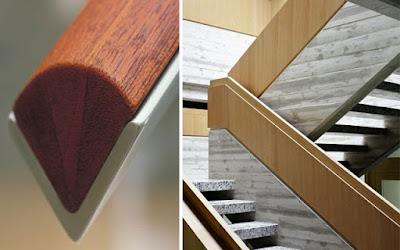wooden stair handrails