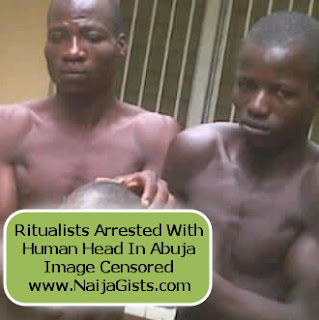 abuja ritualists arrested boy head