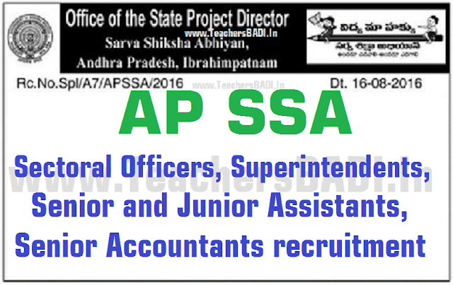AP SSA SOs,Superintendents,Senior and Junior Assts,Senior Accountants 2016 recruitment