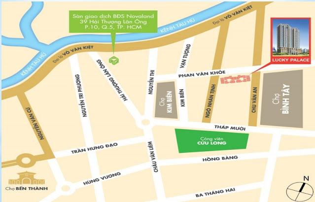 Vị trí căn hộ Lucky Palace quận 6 của NovaLand