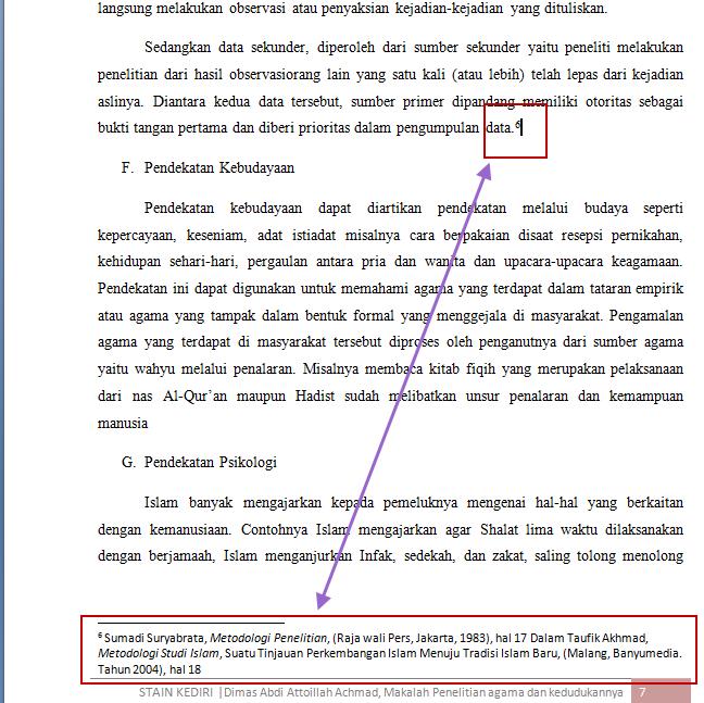 Cara Membuat Catatan Kaki Footnote Pada Makalah Atau Journal Mak