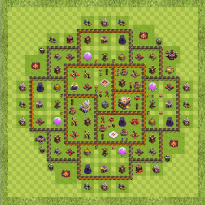 War Base Town Hall Level 11 By miningalistair (Anti 3-Star TH 11 Layout)