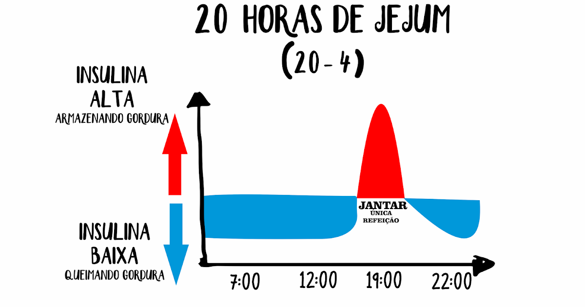 PROTOCOLO 20 HORAS DE JEJUM (20/4) - FASTING