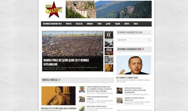 Η ιστοσελίδα Devrimci Karadeniz, η οποία ενημερώνει τους Μαυροθαλασσίτες πάνω σε θέματα που αφορούν την γενοκτονία και όχι μόνο