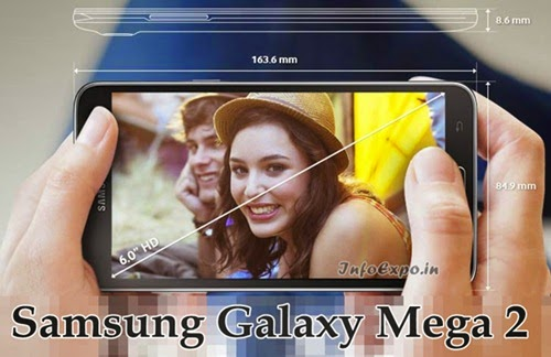 Samsung Galaxy Mega 2: 6 inch HD,1.5GHz Quad Core Android KitKat Smatphone Specs, Price