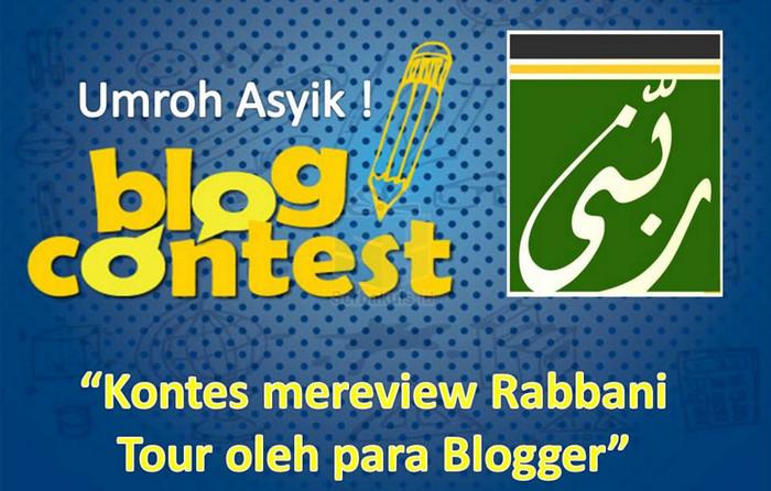Kontes Blog Rabbani Tour Berhadiah Uang Total 5 Juta
