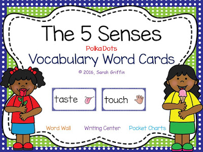 https://www.teacherspayteachers.com/Product/The-5-Senses-Vocabulary-Word-Cards-2365169