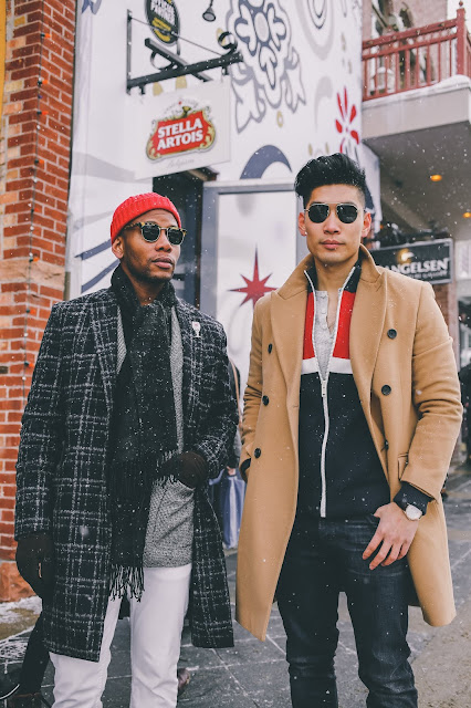 Leo Chan of Levitate Style with Sabir Peele of Men's Style Pro at Cafe Artois | Menswear Outfits
