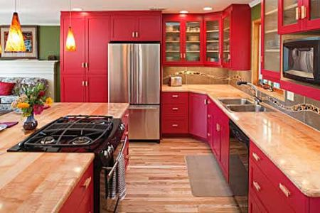 Cabinets For Kitchen Pictures Of Red Kitchen Cabinets