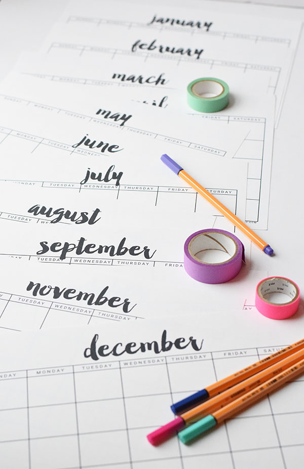 Practical Parenting Ideas 10 Free Printable Calendars 2016