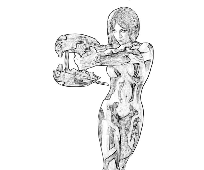 halo 4 gun coloring pages - photo#46