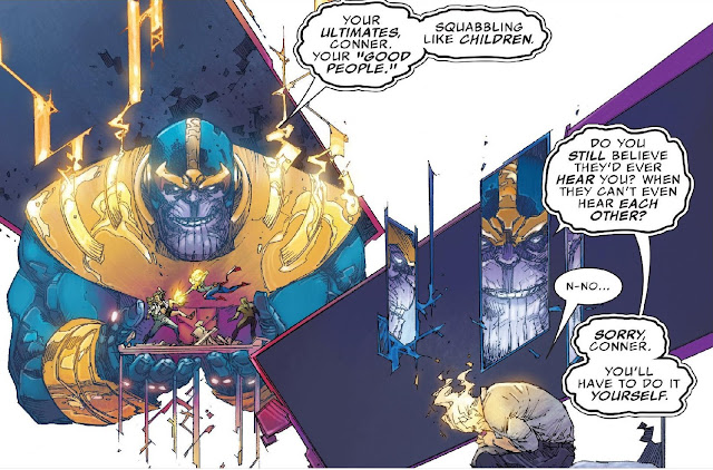 Thanos mocks Sims about The Ultimates Infighting
