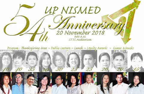 UP NISMED celebrates 54th anniversary