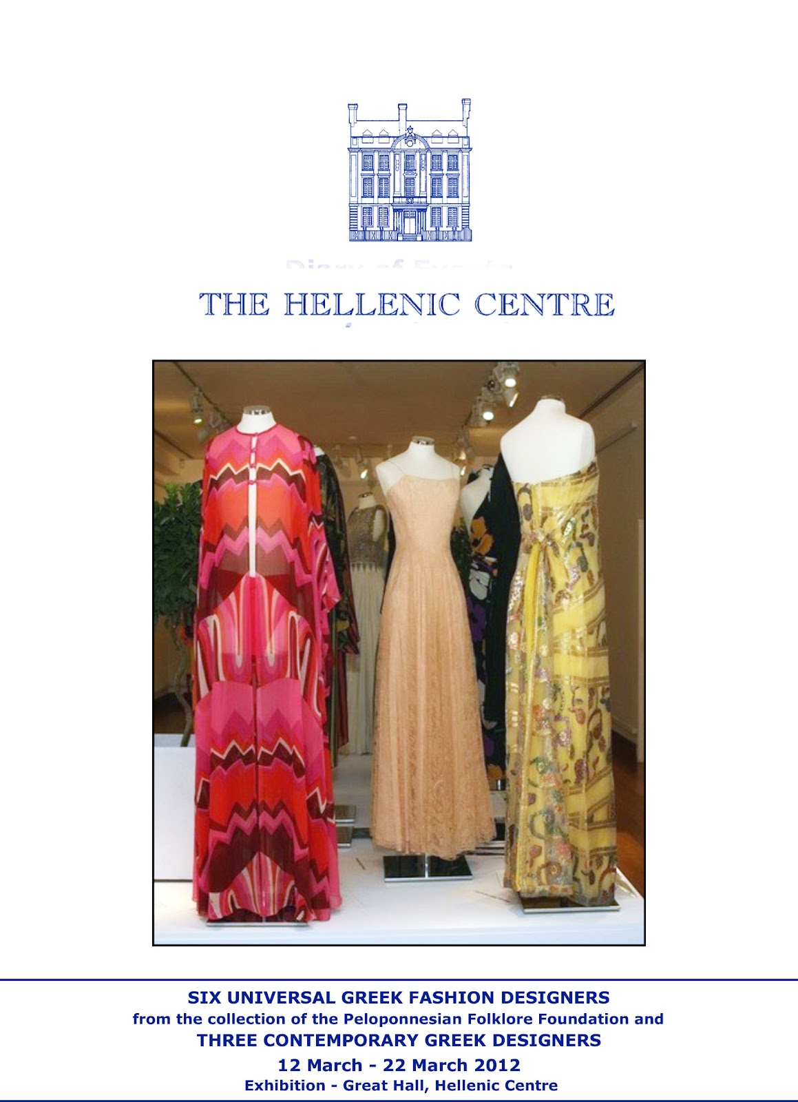 Greek Fashion Design Hellenic Centre In London Fashion Art