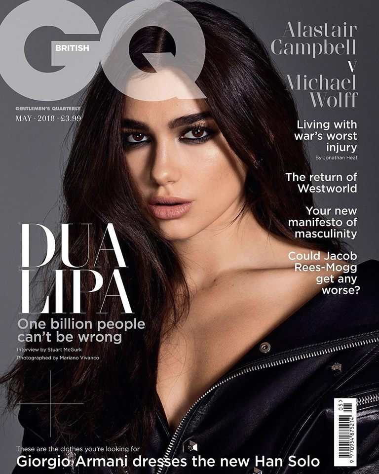 Dua Lipa covers GQ UK May 2018