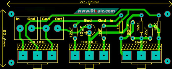 Layout Tone Control Pasif