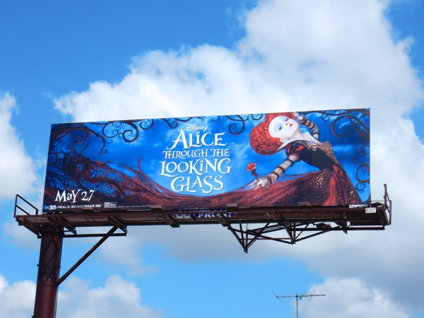 Alice through the Looking Glass Red Queen billboard