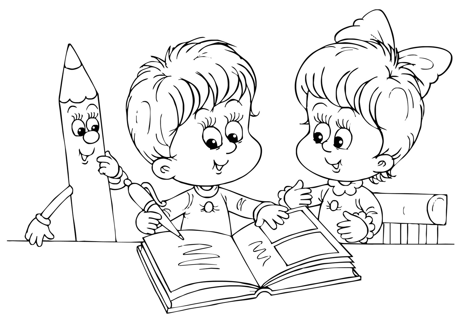 Baú da Web: Desenhos Volta às Aulas para colorir 2013