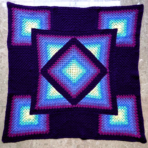 Squared Diamond Granny Throw - Free Pattern