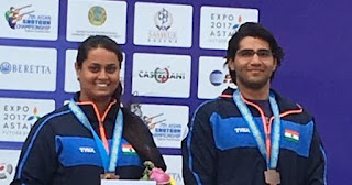 Spotlight : Chenai & Shreyasi win mixed team trap bronze