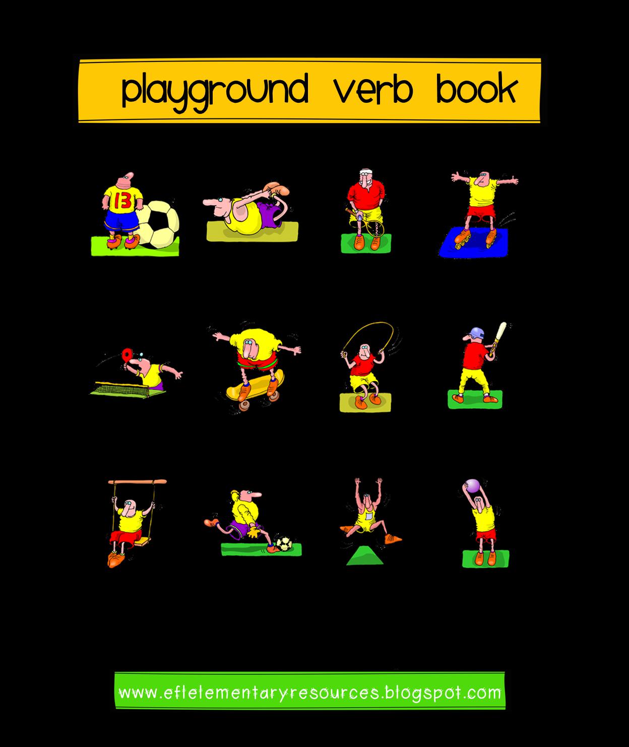 Efl Elementary Teachers Playground Recess Park Verbs