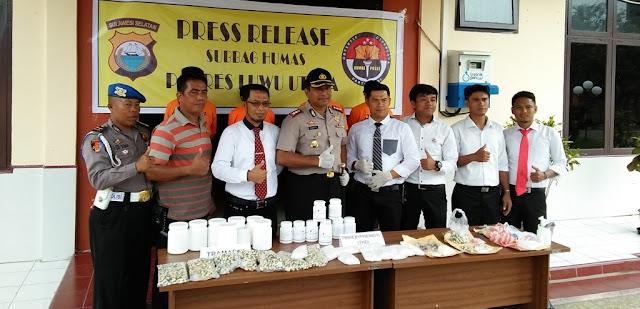 Polisi Sita Puluhan Ribu Obat Daftar G di Luwu Utara