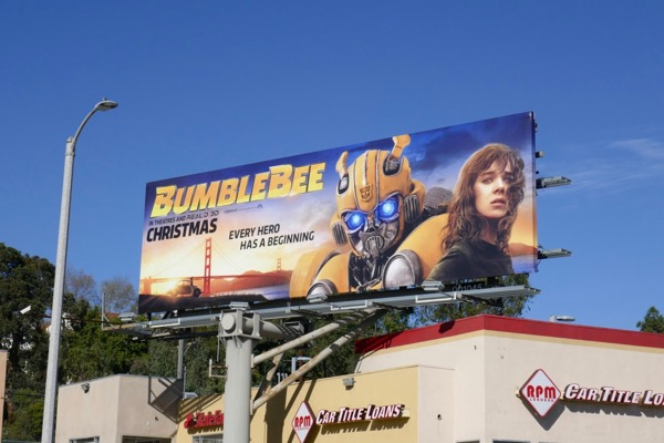 Hailee Steinfeld Bumblebee movie billboard
