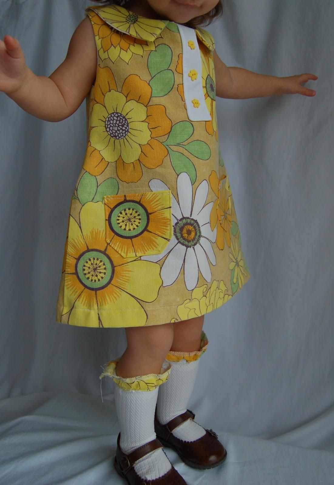 Double Stitching Mod 60s A Line Dress Tutorial