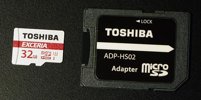 SD変換アダプタが付属する